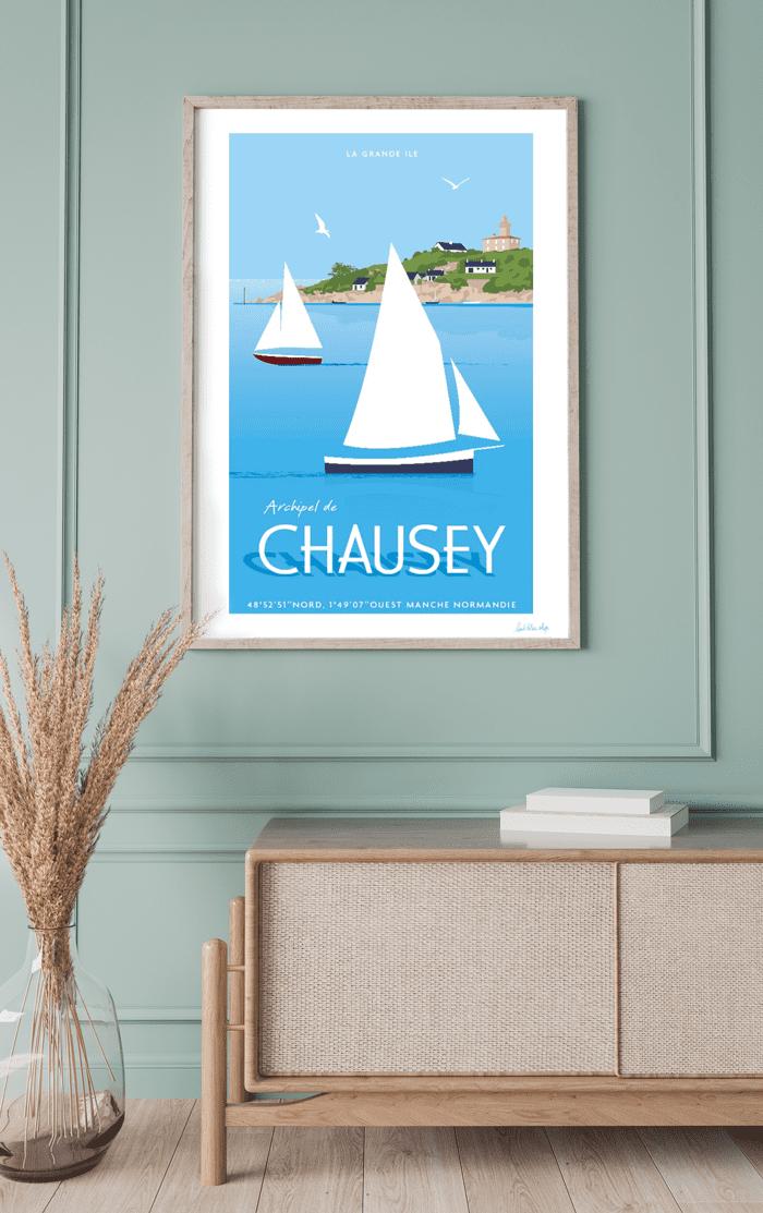 Affiche Chausey - L'Oeil Bleu