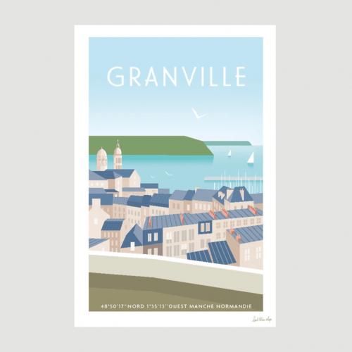 Affiche Granville - L'Oeil Bleu